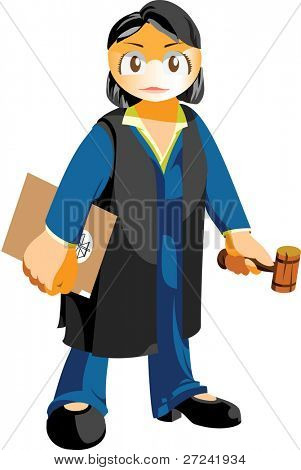 female judge or advocate