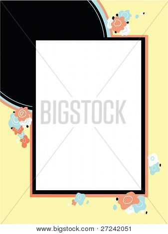 Art deco style poster frame or background