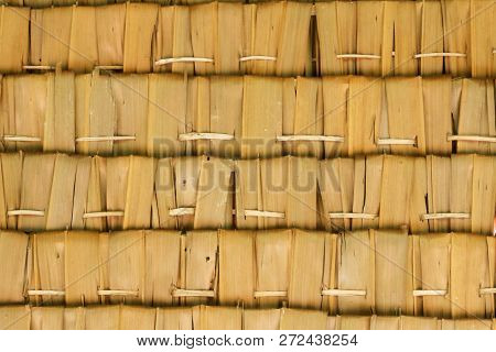 Wall And Roof Made From Attap Or Nipah Leaves