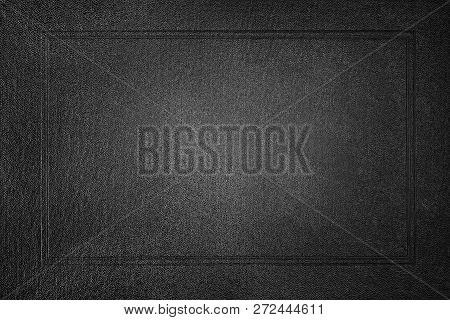 Black Paper With Frame Background. Front Book Cover