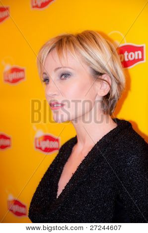 ST PETERSBURG, RUSSIA - NOVEMBER 26: Patricia Kaas, French singer at press conference for the Russian journalists, on November 26, 2009 in St Petersburg, Russia.