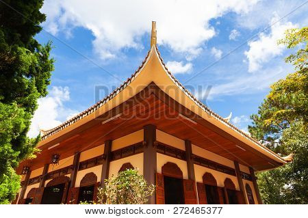 One Of The Buildings On The Grounds Of The Truc Lam Monastery Located On A Hill Near Dalat, Vietnam
