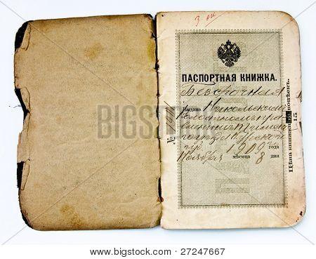 Old Russia's passport (Circa 1909)