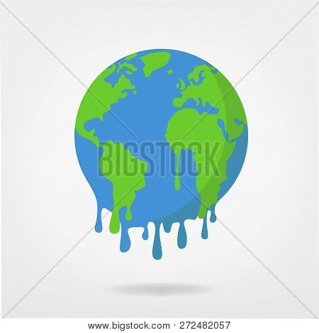 Global Warming / Climate Change World Illustration -  Earth Vector