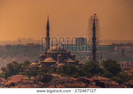 Birdeye View Of Mosque In Eminonu