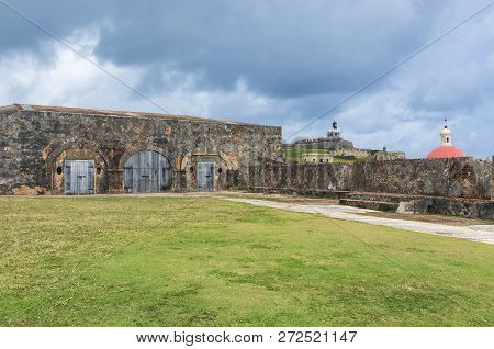 Patio At El Morro A San Juan National Historic Site Also Designated A World Heritage Site And Run By