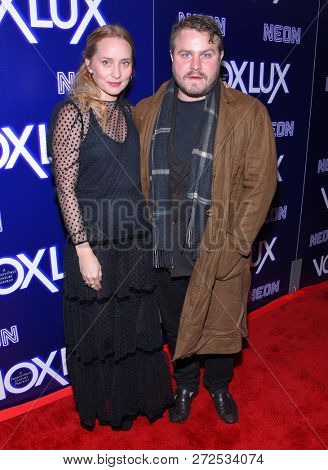 LOS ANGELES - DEC 05:  Mona Lerche and Brady Corbet arrives to the