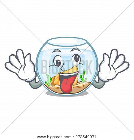 Crazy Fishbowl In A Funny On Cartoon