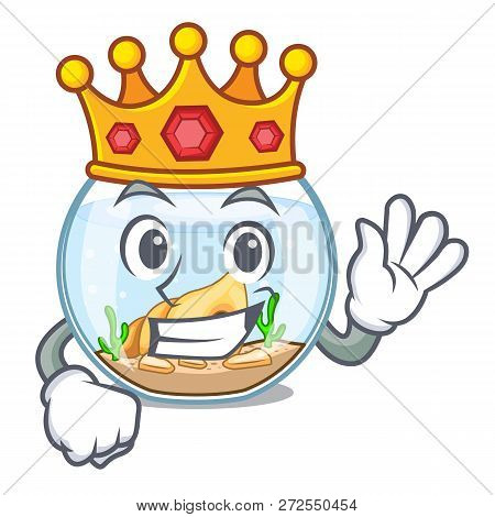 King Fishbowl In A Funny On Cartoon