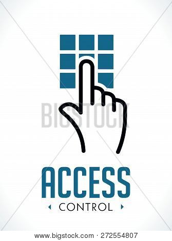 Access Control Technology Logo - Hand As  Key Concept - Icon Sign