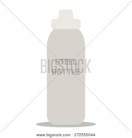 Durable, High Quality Reusable Stainless Steel Bottle As Alternative To Plastic Bottles. Concept Zer