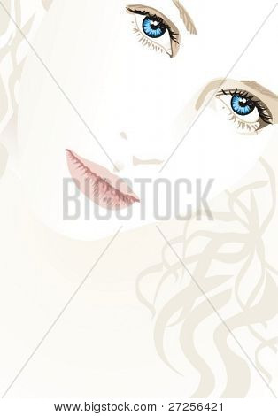 blond girl with blue eyes