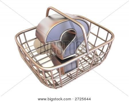 Consumer'S Basket With Question