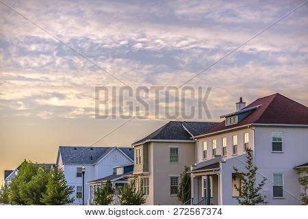 Residential Homes In Daybreak Utah Against Sky