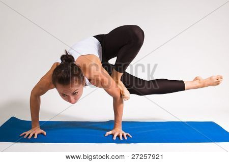 yoga girl doing exercise. 89 of 116 poster