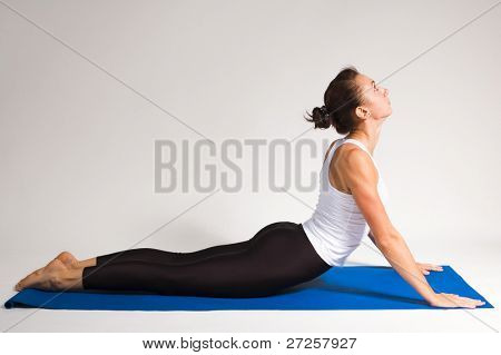 yoga girl doing exercise. 90 of 116 poster