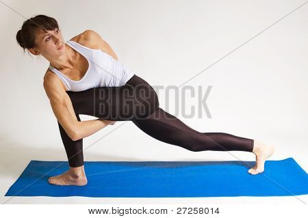 set of yogi girl doing exercise. 115 of 116 poster