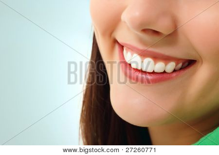 perfect smile healthy tooth cheerful teen girl isolated