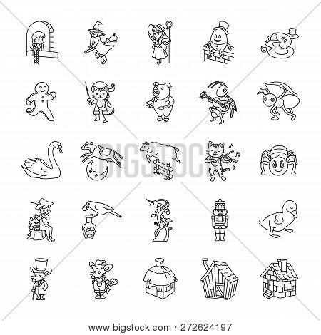 25 Fairy Tale Ii Outlines Vector Icons Collection