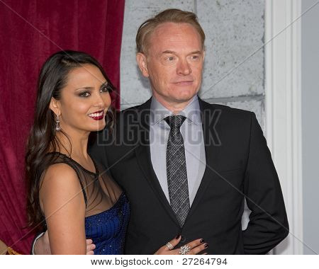 WESTWOOD, CA - DECEMBER 6: Actor Jared Harris and Allegra Riggio arrive at the premiere of