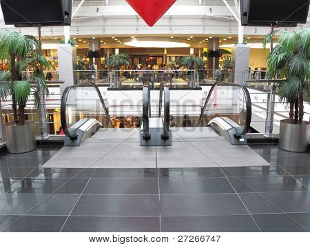 the image of escalator in shopping center