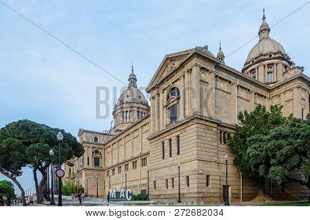 Barcelona,spain - June 12,2014: National Museum In Montjuic, Barcelona