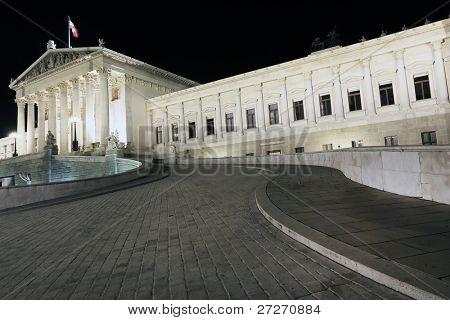 Parliament Building in Wien, Austria