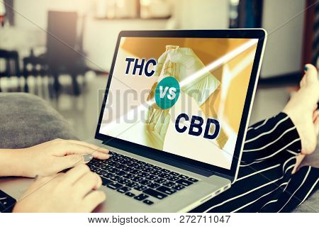 Women Using Laptop Are Studying Information About Cannabis Cancer Treatment.