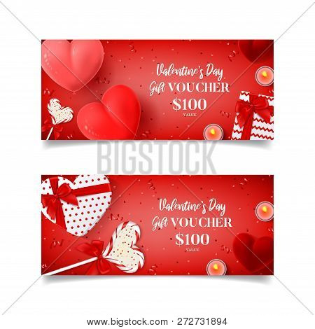 Gift Voucher Template For Valentine's Day