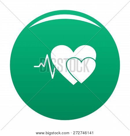 Cardiology Icon. Simple Illustration Of Cardiology Icon For Any Design Green