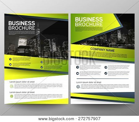 Business Brochure Flyer Design Template. Annual Report. Leaflet Cover Presentation Abstract Geometri