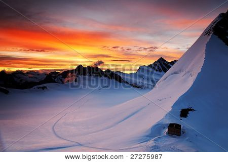 Mountain landscape, Berner Oberland, Switzerland - UNESCO Heritage