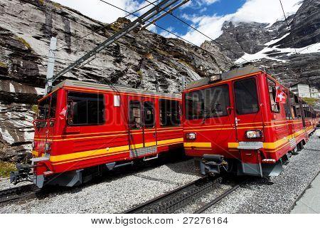 Jungfrau Bahn in Eiger Gletscher Railwaystation, Switzerland