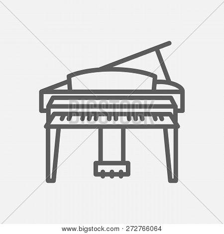 Grand Piano Icon Line Symbol. Isolated Vector Illustration Of Grand Piano Icon Sign Concept For Your