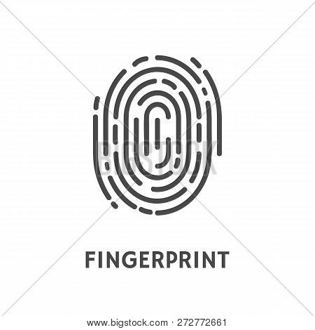 Fingerprint identification and verification of person vector. Thumbprint and text of poster, security system and authorization authentication process poster