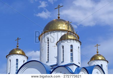 Domes Of The Church In Honor Of The Triumph Of Orthodoxy In Altufevo, Moscow