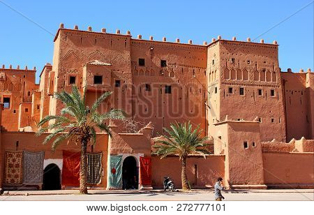 Ouarzazate, Morocco - June 26, 2014:taourirt Kasbah In Ouarzazate, Morocco. It Is One Of The Nationa