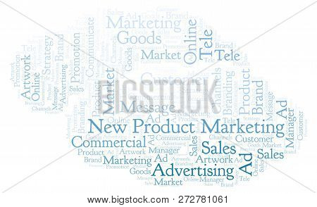 Word Cloud With Text New Product Marketing. Wordcloud Made With Text Only.