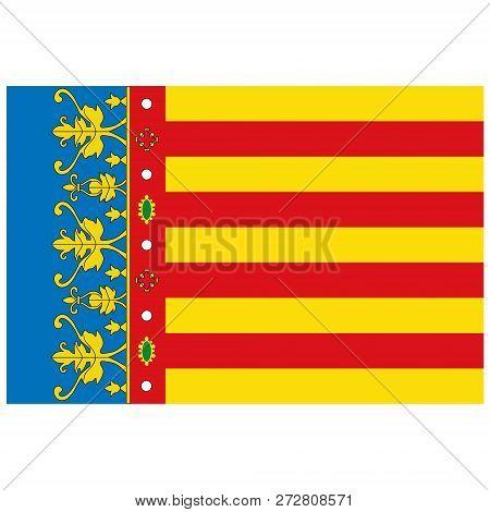 Vector Flag Of Valencian Community - Autonomous Communities In Spain