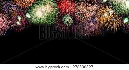 New Year's Eve Fireworks Background Copyspace Copy Space Banner Years Year Firework