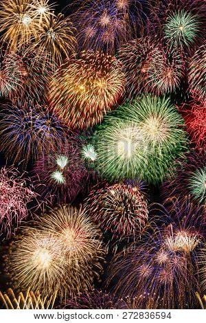 New Year's Eve Fireworks Background Portrait Format Years Year Firework