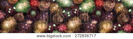 New Year's Eve Fireworks Background Large Banner Years Year Firework