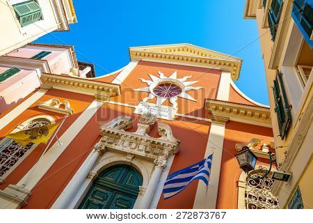 Agios Spyridonas Church Bell Tower, Corfu Old Town, Kerkyra, Corfu, Ionian Islands, Greece