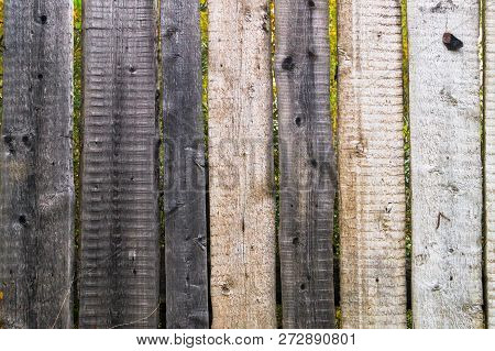Fragment Old Wooden Fence.  Wooden Texture. Wooden Fence.wooden Texture Background.