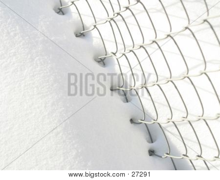 Snow And Fence