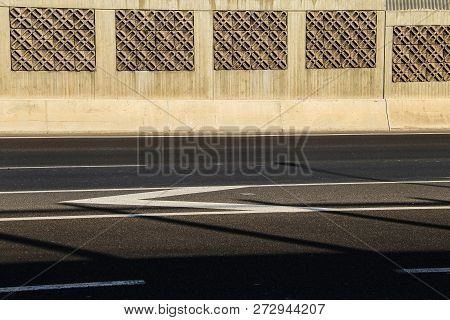 Empty Highway In A Sunny Day, Concept Of Lonliness