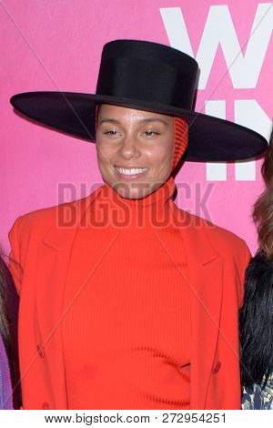 NEW YORK - DEC 6: Alicia Keys attends Billboard's 13th Annual Women in Music event on December 6, 2018 at Pier 36 in New York City.