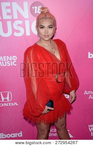 NEW YORK - DEC 6: Hayley Kiyoko attends Billboard's 13th Annual Women in Music event on December 6, 2018 at Pier 36 in New York City.