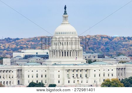United States Capitol Building in autumn season - Washington DC United States of America