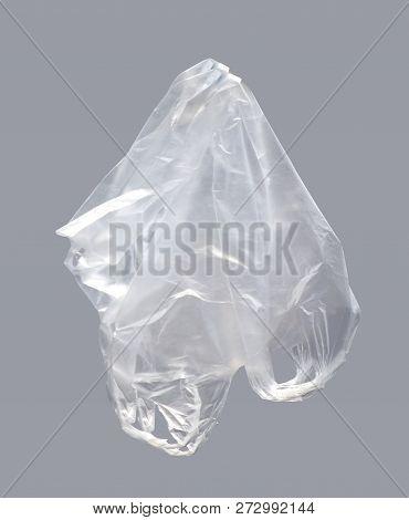 Plastic Bag, Clear Plastic Bag On Gray Background, Plastic Bag Clear Waste, Plastic Bag Clear Garbag